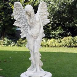 Fiammella (fata di fuoco) - statue da giaridino in graniglia di marmo di Carrara