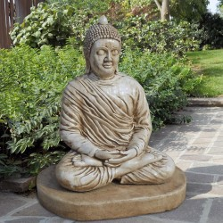Budda 4 - statue da giardino in graniglia di marmo di Carrara