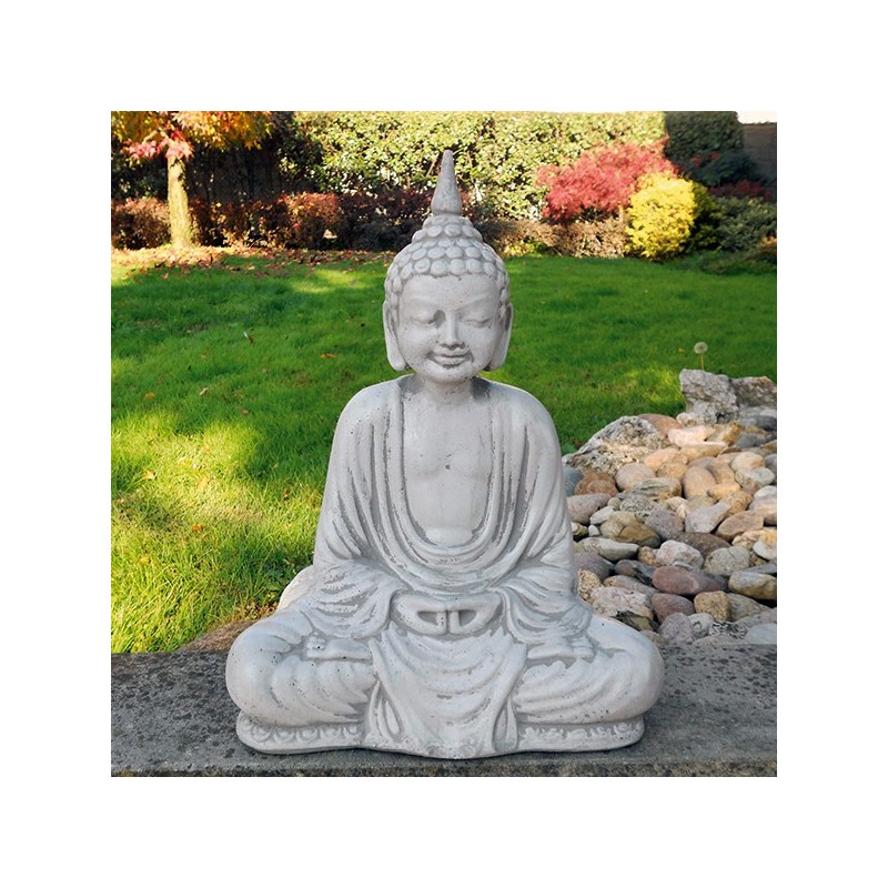 Budda 2 - statue da giardino in graniglia di marmo di Carrara