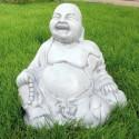 Buddha 1 - statue da giardino in graniglia di marmo di Carrara