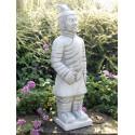 Guerriero Cinese - statue da giardino in graniglia di marmo di Carrara