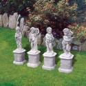 Serie 4 stagioni - statue da giardino in graniglia di marmo di Carrara