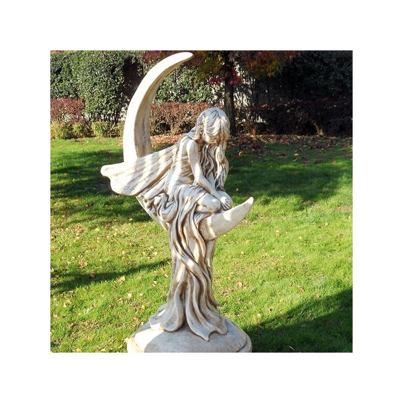 Fata della luna statue da giardino produzione e vendita - Fontane in marmo da giardino ...