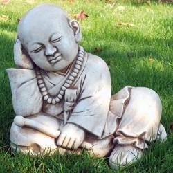 Buddha (5)- statue da giardino in graniglia di marmo di carrara