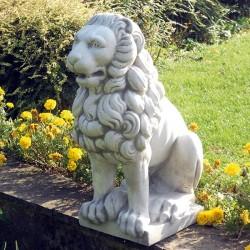Leone - statue da giardino animali in graniglia di marmo di Carrara