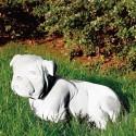 Bull dog - statue da giardino animali in graniglia di marmo di Carrara