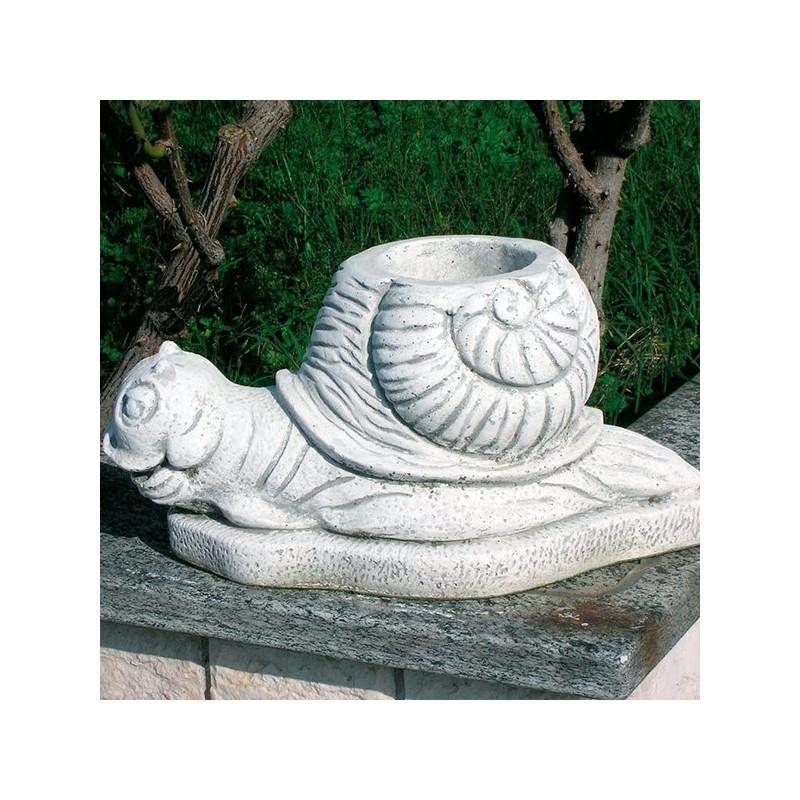 Vaso Lumaca - statue da giardino in graniglia di marmo di Carrara