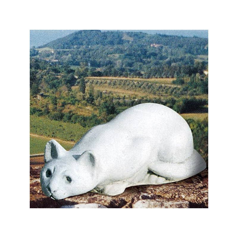 Gatto Siamese - statua da giardino animali in graniglia di marmo di Carrara