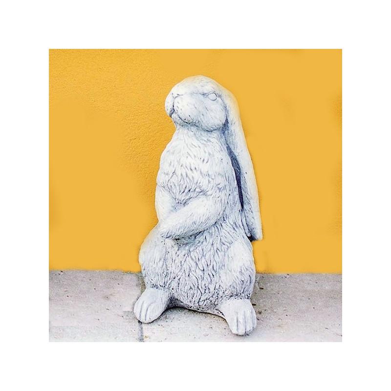 Coniglietto - statua da giardino in graniglia di marmo di Carrara