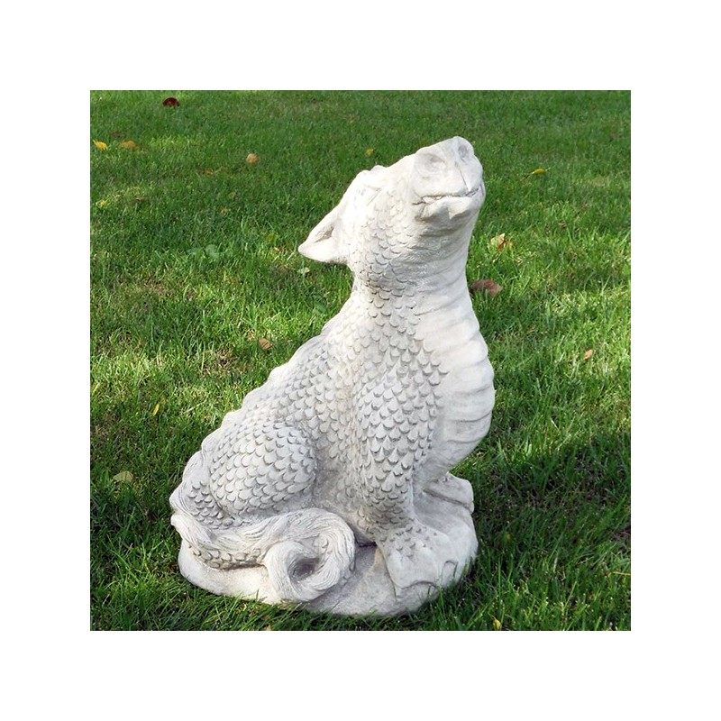 Drago - statua da giardino in graniglia di marmo di Carrara