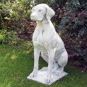 Bracco - statua da giardino arredo da giardino in graniglia di marmo di Carrara