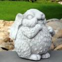 Coniglietta Trilly - arredo da giardino statua da giaridno in graniglia di marmo di Carrara al 100% Made in Italy
