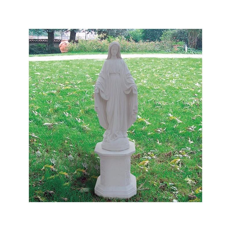 Madonna Immacolata - statue da giardino soggetti sacri in graniglia di marmo di Carara
