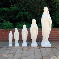 Madonna Lourdes - arredo da giardino in graniglia di marmo di Carrara 100% Made in Italy