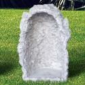 Grotta piccola per Madonna ( h 50 cm) - arredo da giardino in graniglia di marmo di Carrara 100% Made in Italy