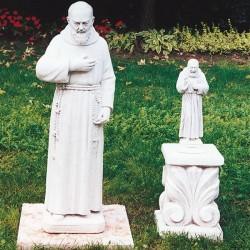 Padre Pio - soggetti sacri arredo da giardino in pietra ricomposta 100% Made in Italy