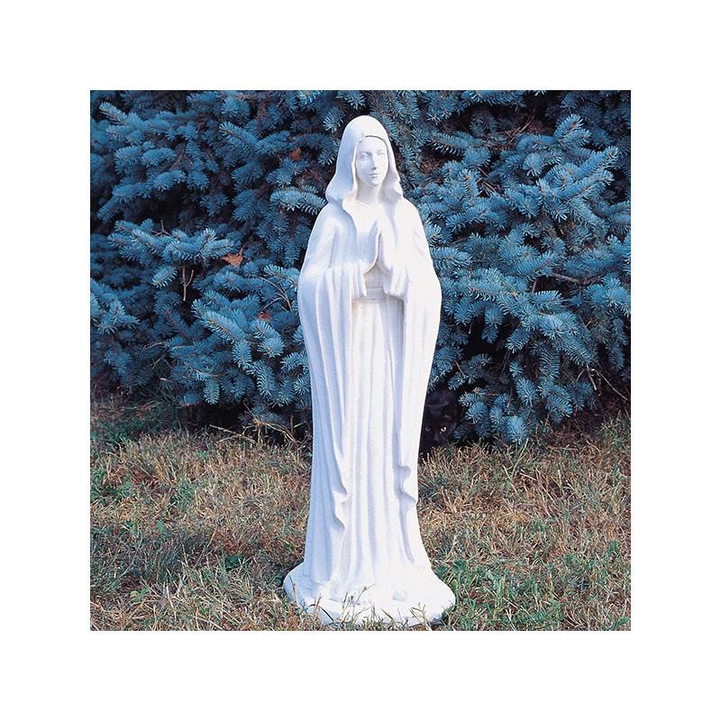 Madonna della pace - arredo da giardino statue da giardino in graniglia di marmo di Carrara