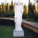 Arcangelo - soggetti sacri arredo da giardino in graniglia di marmo di Carrara al 100% Made in Italy