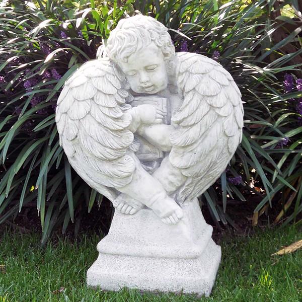 angelo custode - amorino | produzione statue sacre da giardino