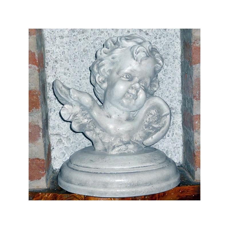 Busto di Angelo - soggetti sacri arredo da giardino in graniglia di marmo di Carrara 100% Made in Italy