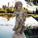 Eros - soggetti sacri arredo da giardino in graniglia di marmo di Carrara 100% Made inItaly