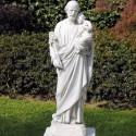San Giuseppe - soggetti sacri arredo da giardino in graniglia di marmo di Carrara 100% Made in Italy