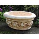 Vaschetta ovale - arredo da giardino vaso da giardino in graniglia di marmo di Carrara