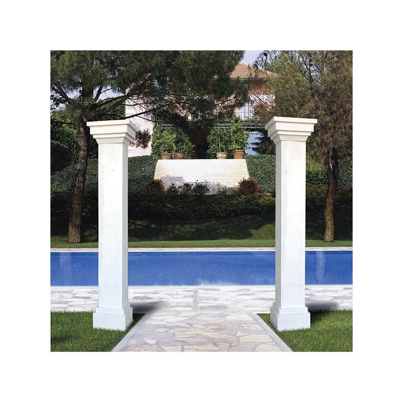 Pilastro Millennium - pilastro edilizia in cemento bianco arredo da giardino