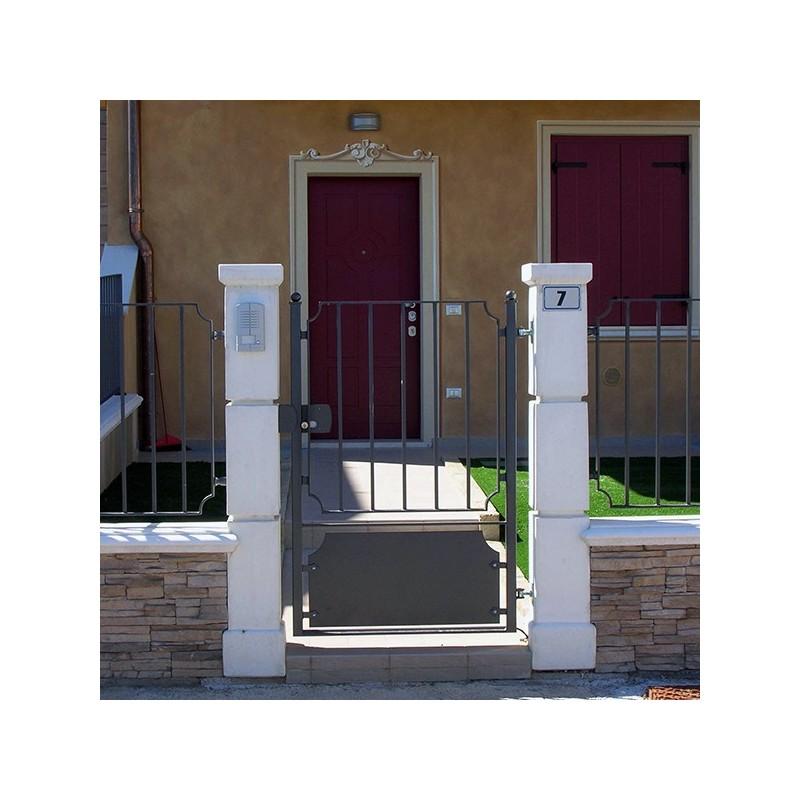 Piantino P. per cancello pedonale - edilizia in cemento bianco 100% Made in Italy
