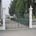 Pilastro Liscio e Martellinato - edilizia arredo da giardino in graniglia di marmo di Carrara