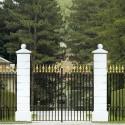 Pilastro Liscio G. - edilizia arredo da giardino in graniglia di marmo di Carrara