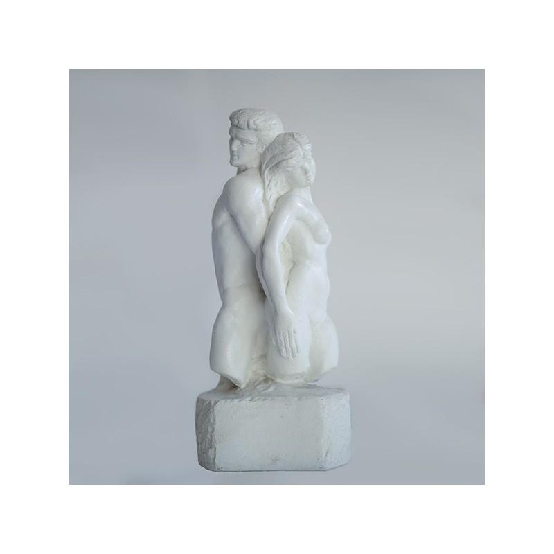 Amore e Psiche - statua da giardino in graniglia di marmo di carrara