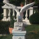 Condor - statue da giardino animali in graniglia di marmo di Carrara