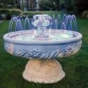 Fontana Camogli fontana da giardino funzionante in cemento bianco