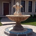 Fontana Nizza fontana da giardino funzionante in graniglia di marmo di Carrara