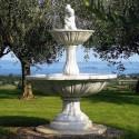 Fontana Agrigento fontana da giardino funzionante in graniglia di marmo di Carrara