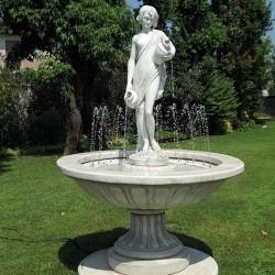 Fontana Livigno, fontane da giardino funzionanti in graniglia di marmo di Carrara.