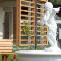 Fontana Paradiso fontane da giardino funzionanti in graniglia di marmo di Carrara