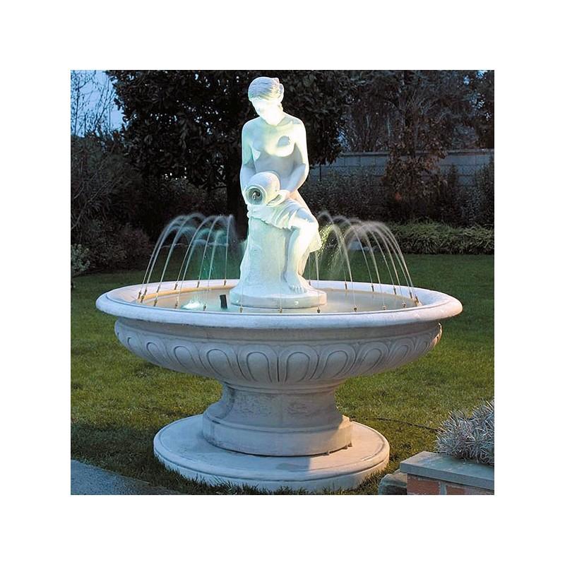 Fontana Pisa- fontane da giardino funzionanti in graniglia di marmo di Carrara