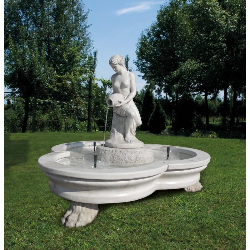 Fontana Verona fontane da giardino funzionanti in graniglia di marmo di carrara.