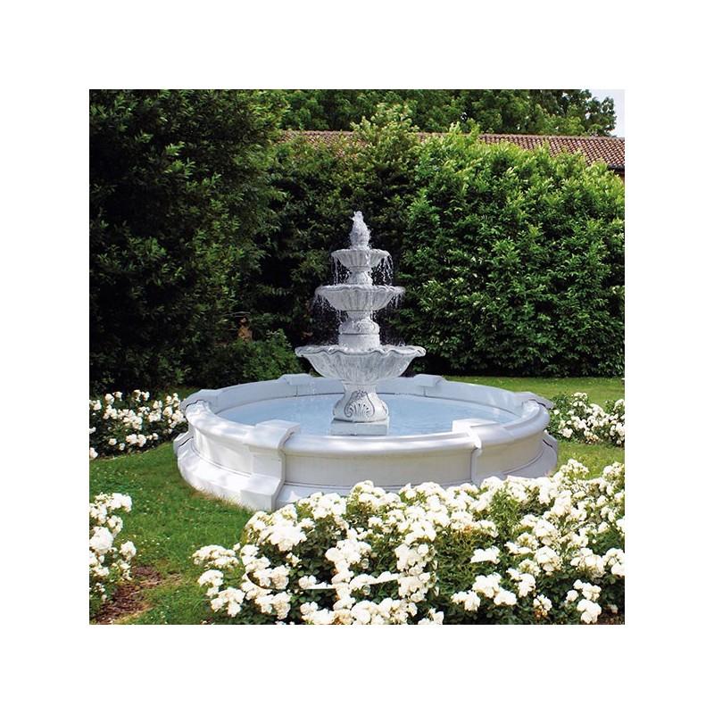 Fontana Bordighera-fontane da giardino funzionanti in pietra ricomposta
