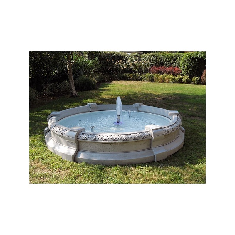 Fontana Varese - fontane da giardino funzionanti in graniglia di marmo di Carrara