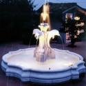 Fontana Dallas - fontane da giardino funzionanti in graniglia di marmo di Carrara