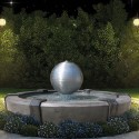 Fontana Saturno - fontane da giardino funzionanti in graniglia di marmo di Carrara