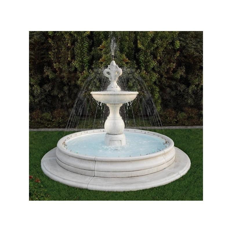 Fontana Viareggio - fontane da giardino funzionanti in graniglia di marmo di Carrara