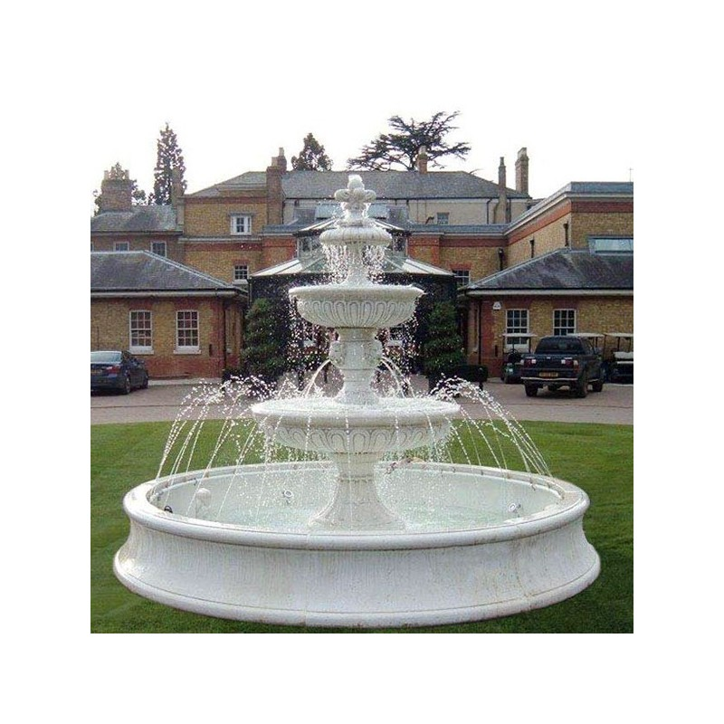 Fontana Volterra - fontane da giardino funzionanti in graniglia di marmo di carrara