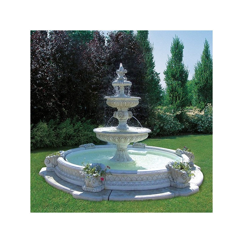Fontana Berlino - fontane da giardino funzionanti in cemento bianco