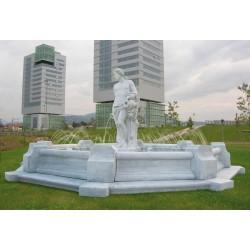Fontana San Tropez - fontane da giardino funzionanti cemento bianco