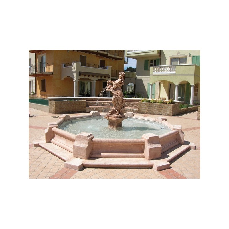 Fontana Dorothea (grande) - fontane da giardino funzionanti in graniglia di marmo di Carrara