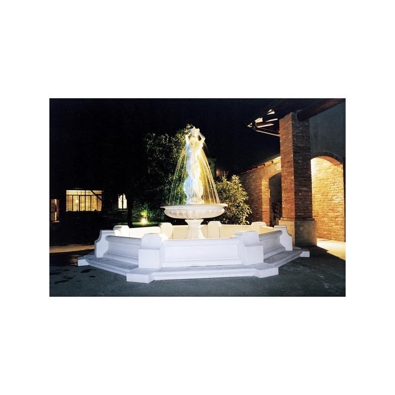 Fontana Mediterraneo - fontane da giardino funzionanti in cemento bianco